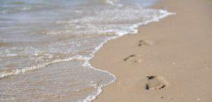 Strand Fußabdruck